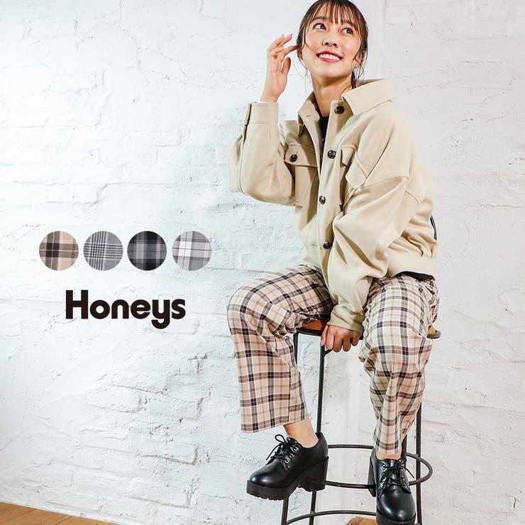 パンツ ストレートパンツ チェック   Honeys   詳細画像1