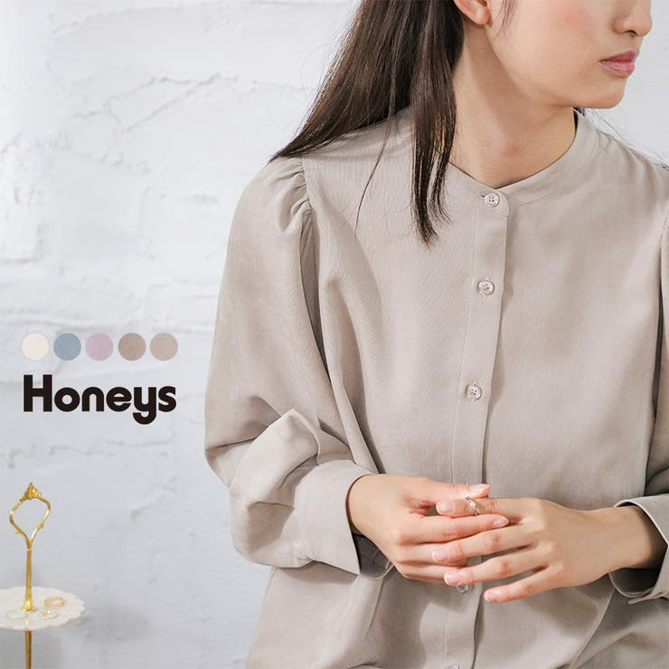 トップス ブラウス 長袖 | Honeys | 詳細画像1