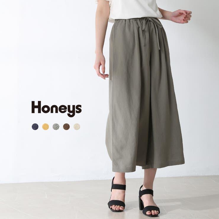 パンツ ガウチョパンツ リボン   Honeys   詳細画像1