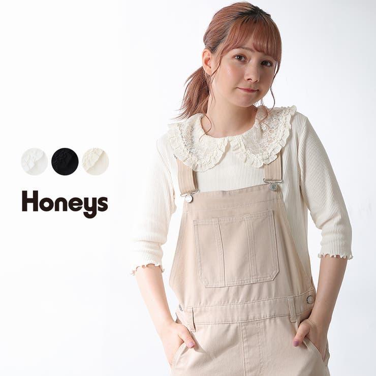 トップス プルオーバー 5分袖   Honeys   詳細画像1