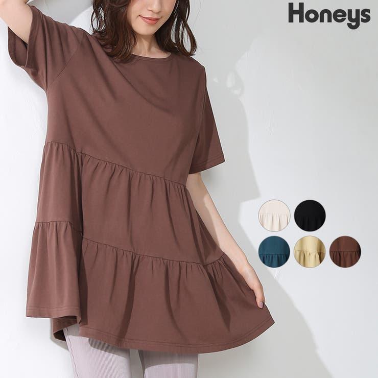 トップス チュニック 半袖 | Honeys | 詳細画像1