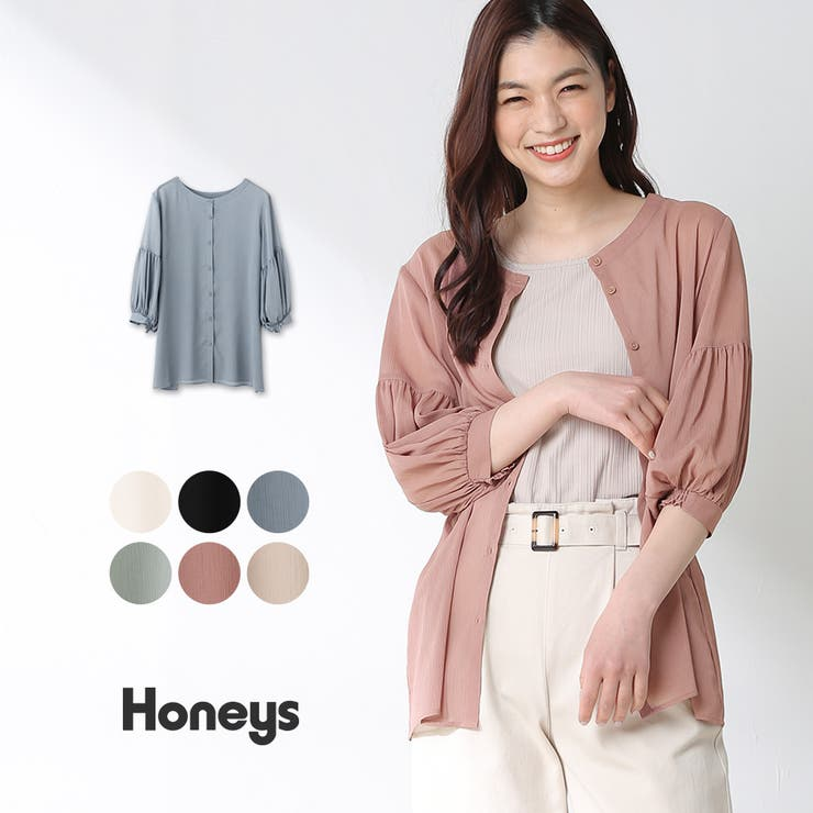 トップス ブラウス 7分袖 | Honeys | 詳細画像1