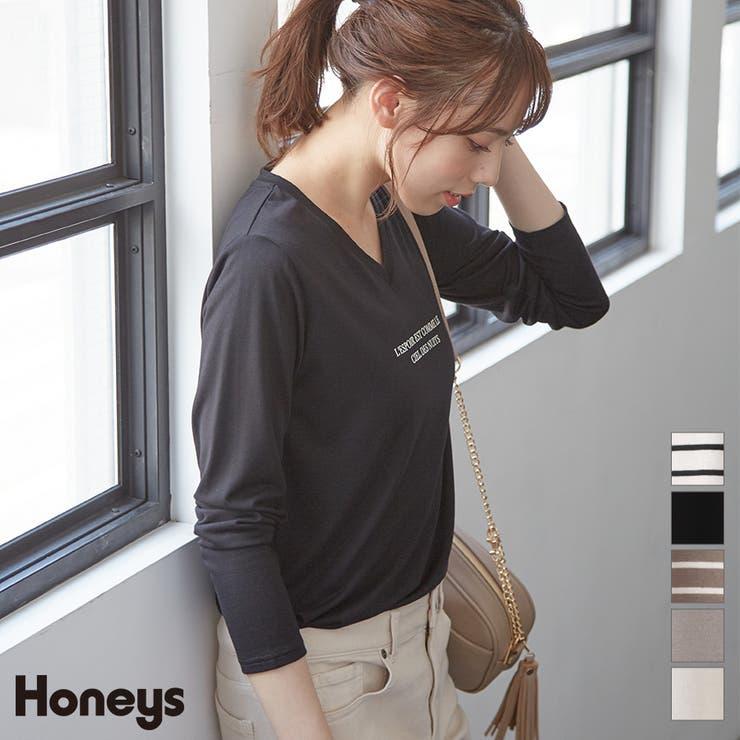 トップス カットソー 長袖   Honeys   詳細画像1