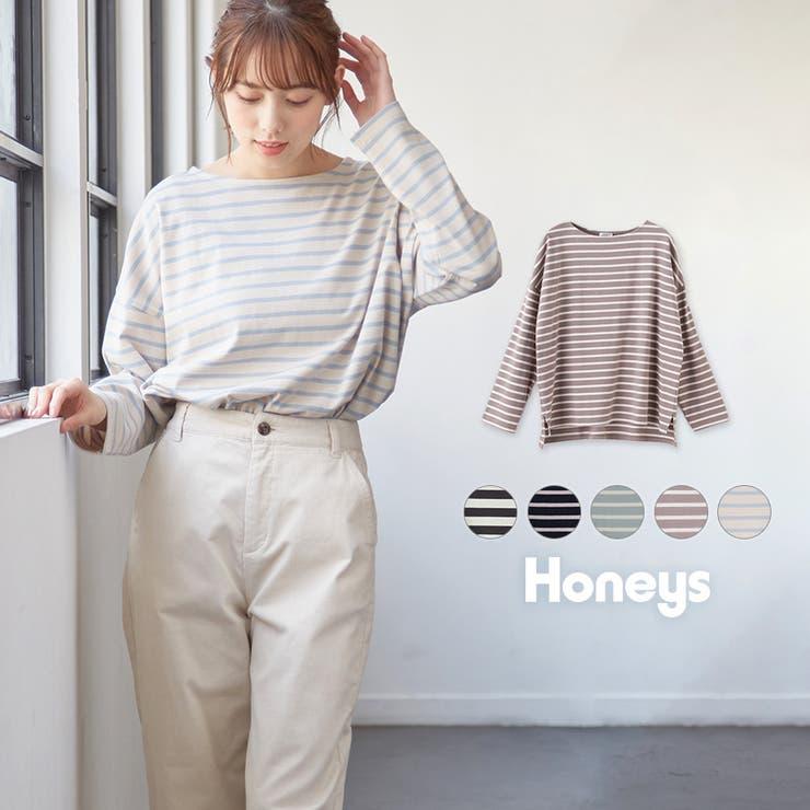 トップス ロンT 長袖   Honeys   詳細画像1