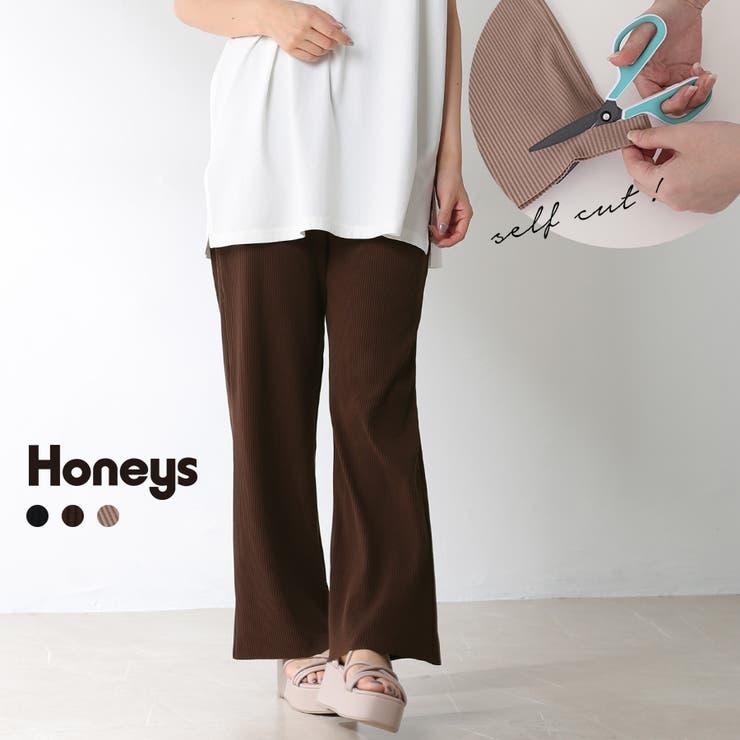 パンツ ストレートパンツ セルフカット   Honeys   詳細画像1