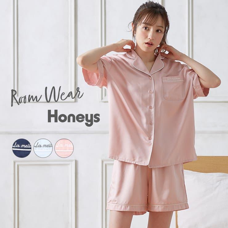 ルームウェア セットアイテム シャツ   Honeys   詳細画像1