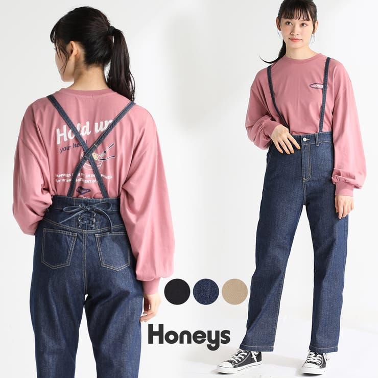 パンツ レディース ストレート   Honeys   詳細画像1