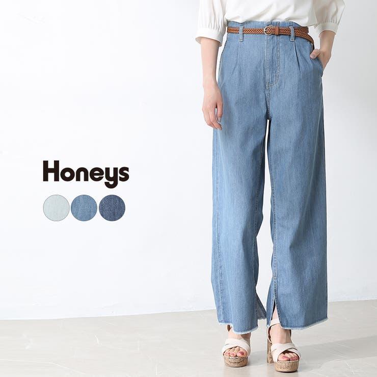 パンツ ストレートパンツ デニム   Honeys   詳細画像1