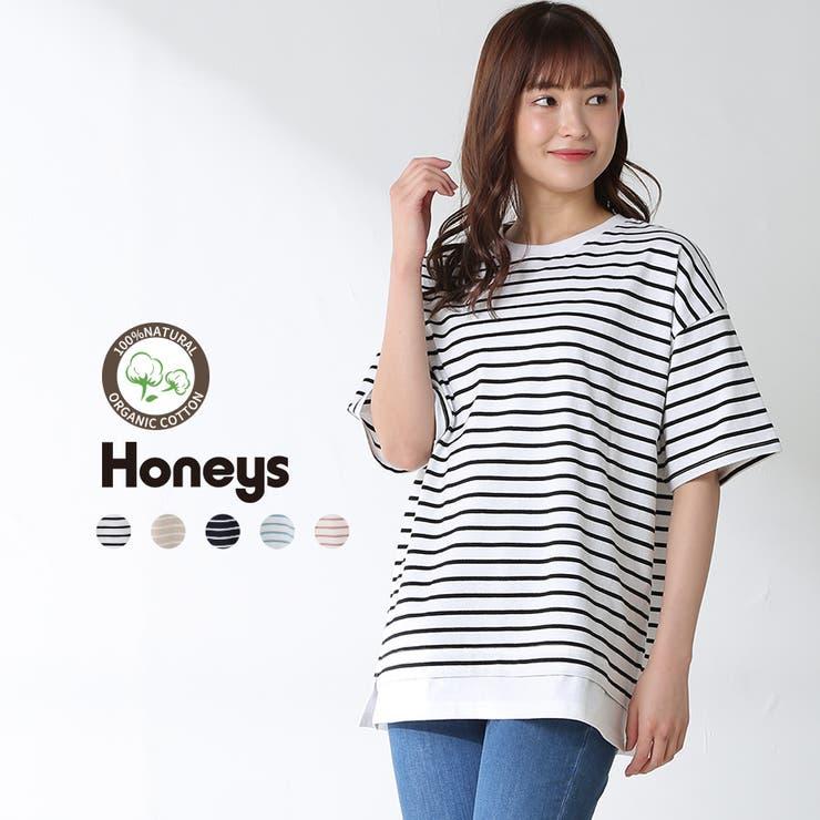 トップス プルオーバー レイヤード風   Honeys   詳細画像1