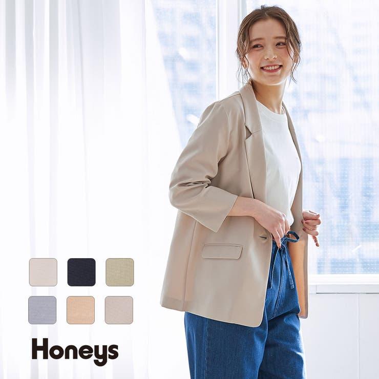 アウター ジャケット テーラージャケット   Honeys   詳細画像1