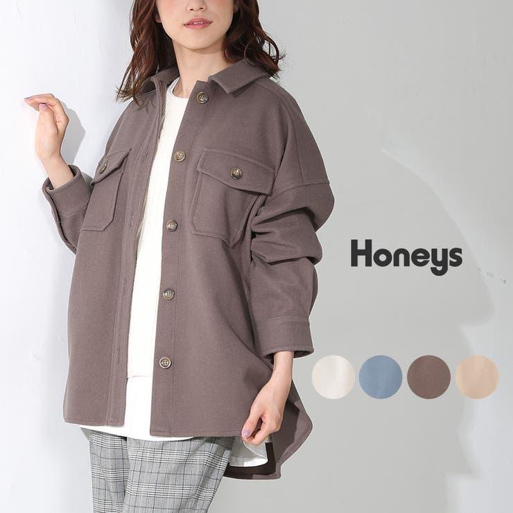 ジャケット オーバーサイズ 無地 | Honeys | 詳細画像1