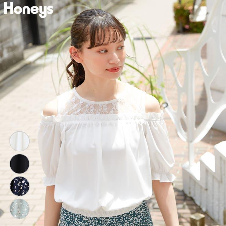 トップス ブラウス 半袖   Honeys   詳細画像1