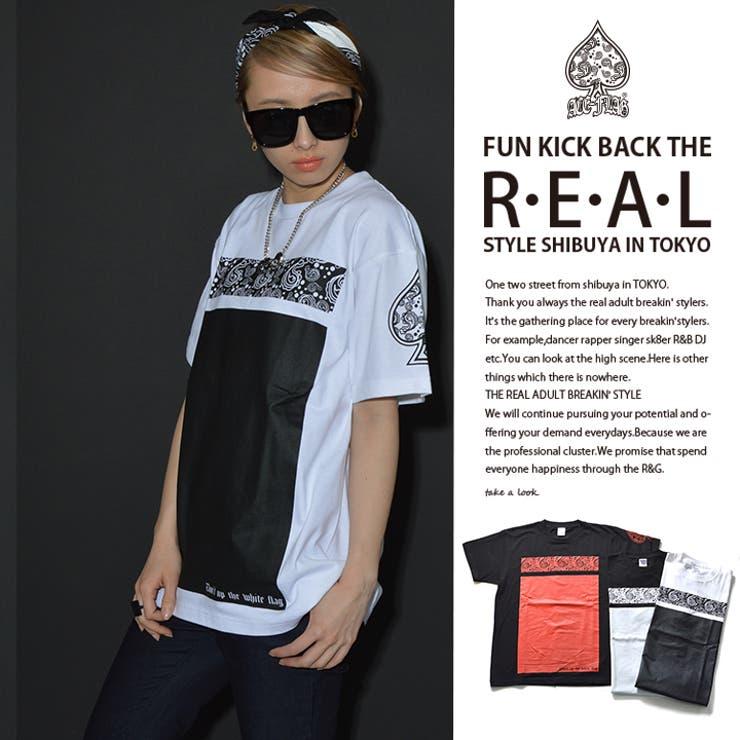 Tシャツ Tシャツ≪BOX PAISLEY≫ACEFLAG   本格派大人のB系   詳細画像1