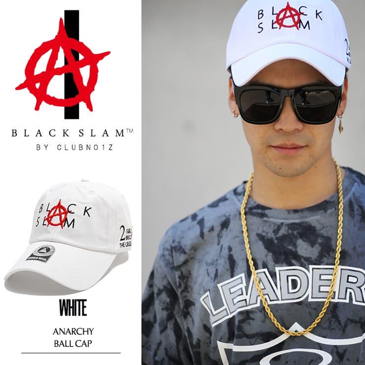 ローキャップ【BS-CA-SB-001】ブラックスラム BLACK SLAM クラブノイズ CLUBNO1ZアナーキーAnarchy 定番ロゴ CAP ベースボール ボールキャップ カーブキャップ 白 正規品 b系 ヒップホップストリート系ファッション メンズ レディース