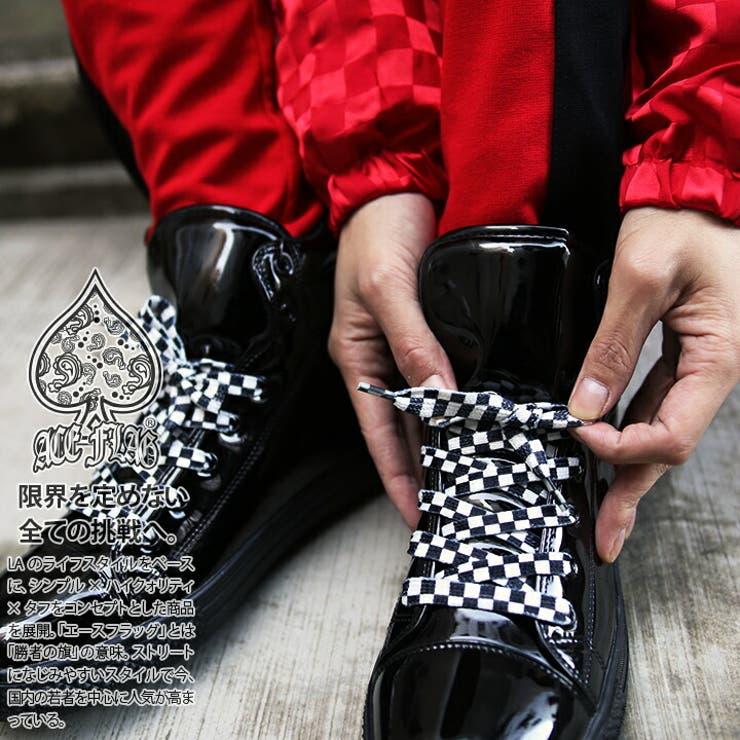 靴紐ACE FLAG エースフラッグ   本格派大人のB系    詳細画像1