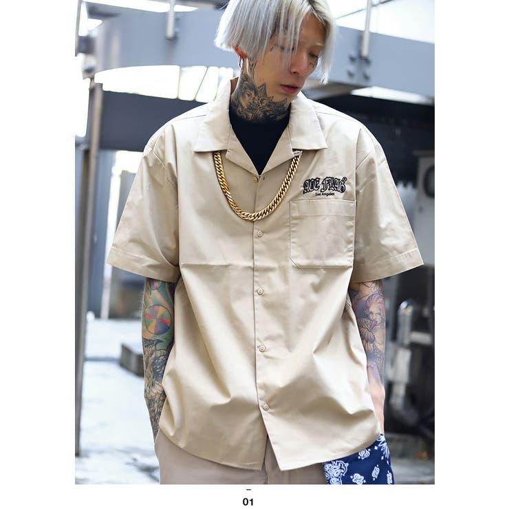 ACEFLAG(エースフラッグ)の半袖シャツ(開襟シャツ)   詳細画像