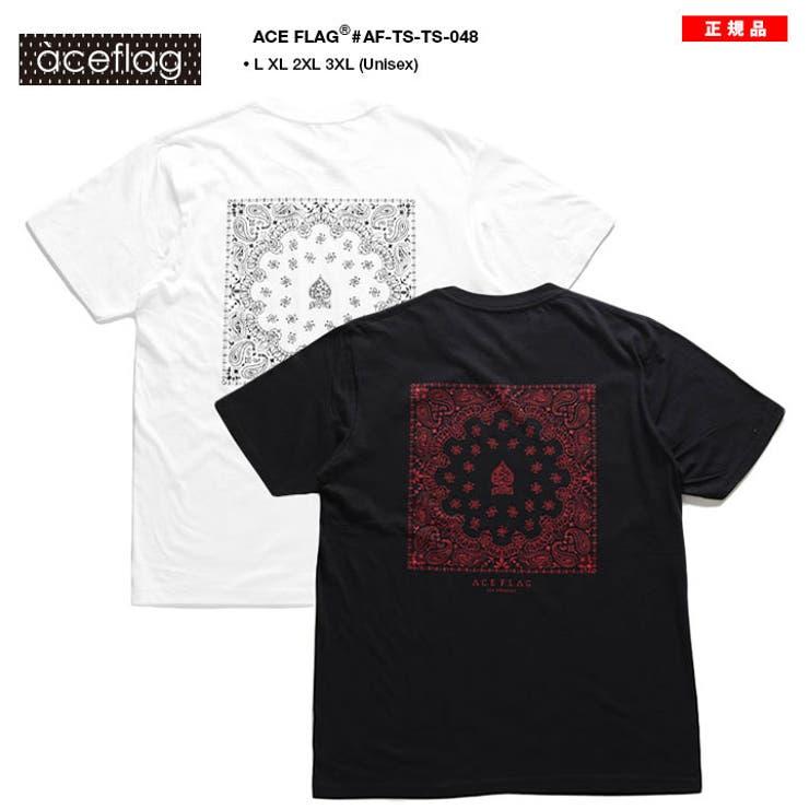 TシャツACE FLAG Tシャツ   本格派大人のB系    詳細画像1