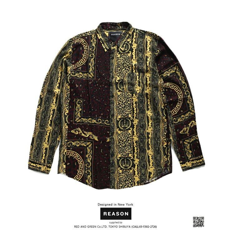 REASON(リーズン)の長袖シャツ(総柄) | 詳細画像