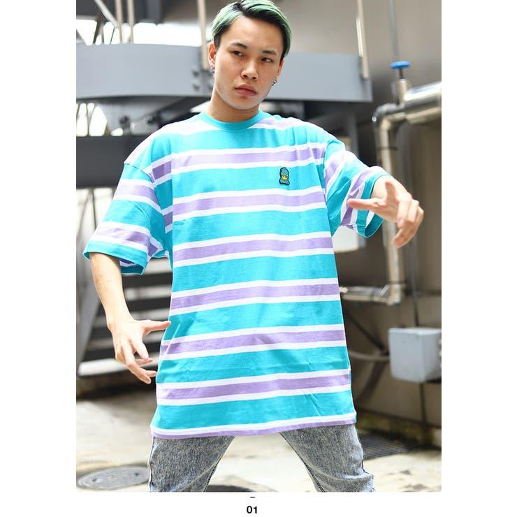 REASON(リーズン)のTシャツ(ボーダー総柄)   詳細画像