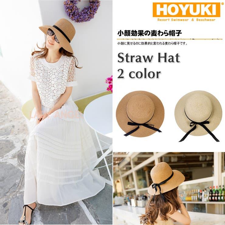 帽子、麦わら帽子、レディース、UVカット、紫外線防止、ストローハット、夏、小顔効… | HOYUKI | 詳細画像1