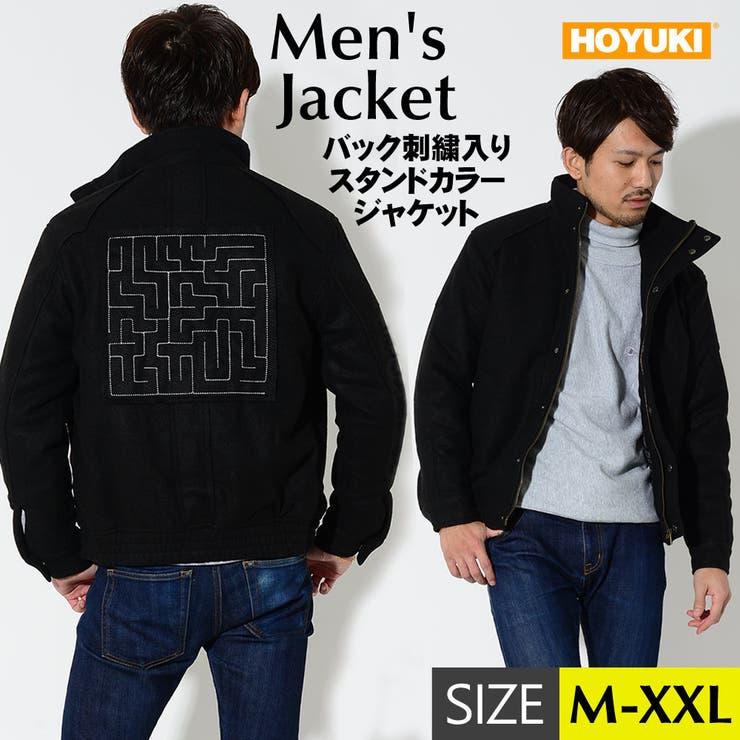 メンズ ジャケット ブラック   HOYUKI MEN   詳細画像1