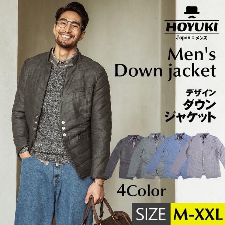 メンズ ジャケット ダウン   HOYUKI MEN   詳細画像1