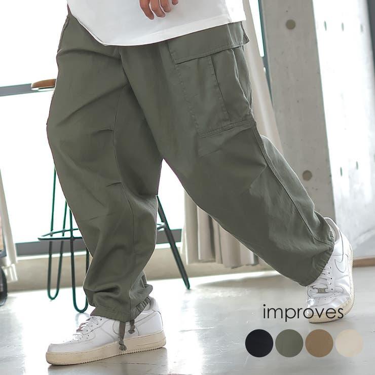 ワイド カーゴパンツ メンズ | improves | 詳細画像1