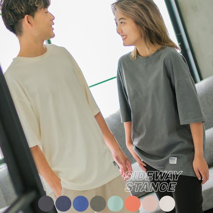 tシャツ Tシャツ メンズ 半袖 ピグメント 無地 ビッグシルエット | improves | 詳細画像1