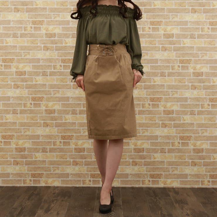 ウエストレースアップタイトスカート   honey on days   詳細画像1