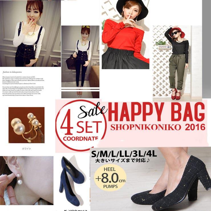 【shopnikoniko】【HAPPY BAG】トップス、デニム、シューズ、ピアスの4点セット福袋