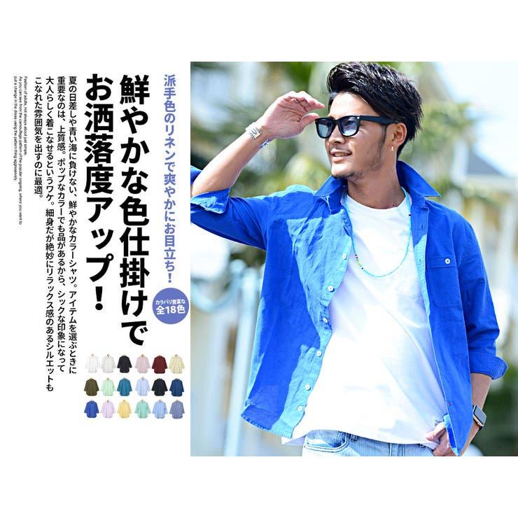 VICCI ビッチ 綿麻 7分袖 七分 シャツ 7分袖 七分 シャツ /全20色