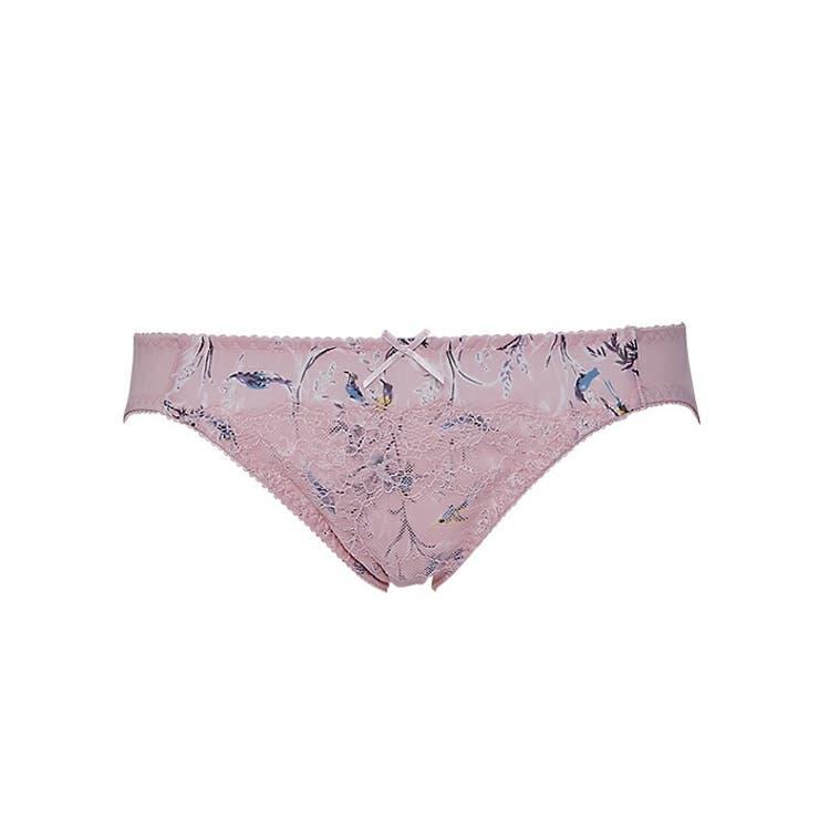 【ボリュームアップ】丸胸メイクアップペアショーツ(ピンク/ブラック)   izumi BODY LABO    詳細画像1