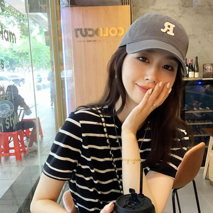 jemiremi ロゴエンブロイダリーベースボールキャップ 韓国ファッション   jemiremi   詳細画像1