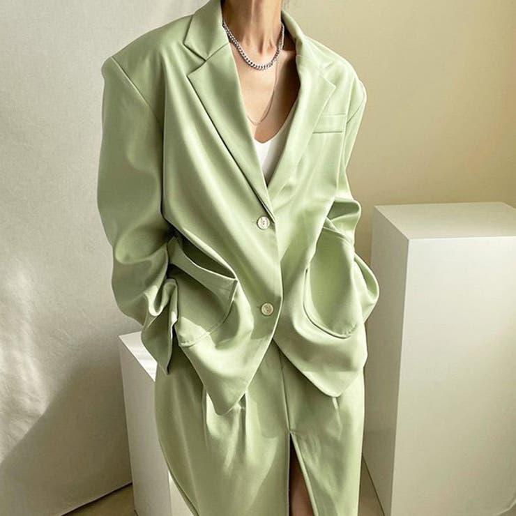 jemiremi スリットスカートテーラードセットアップ 韓国ファッション   jemiremi   詳細画像1