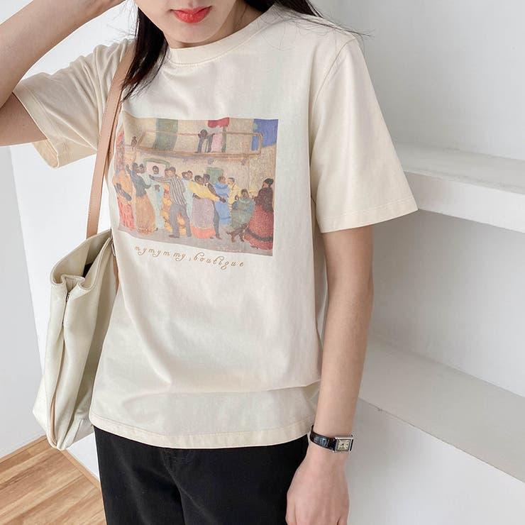jemiremi レトロイラストTシャツ 韓国ファッション | jemiremi | 詳細画像1