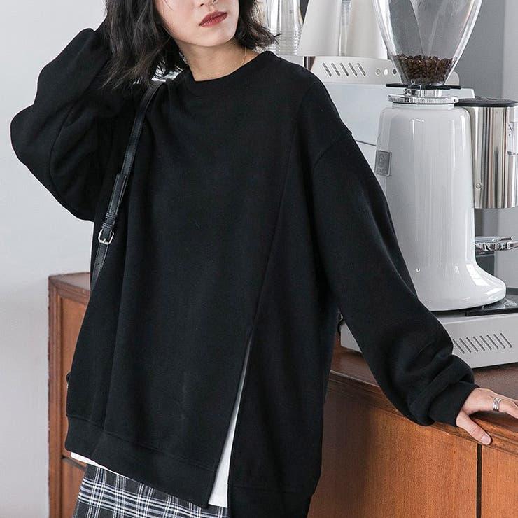 jemiremi サイドスリットオーバートレーナー 韓国ファッション | jemiremi | 詳細画像1
