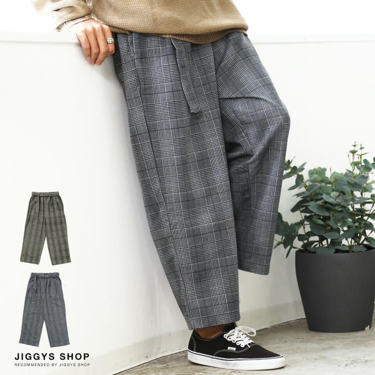 ◆チェックタックワイドパンツ◆   JIGGYS SHOP   詳細画像1
