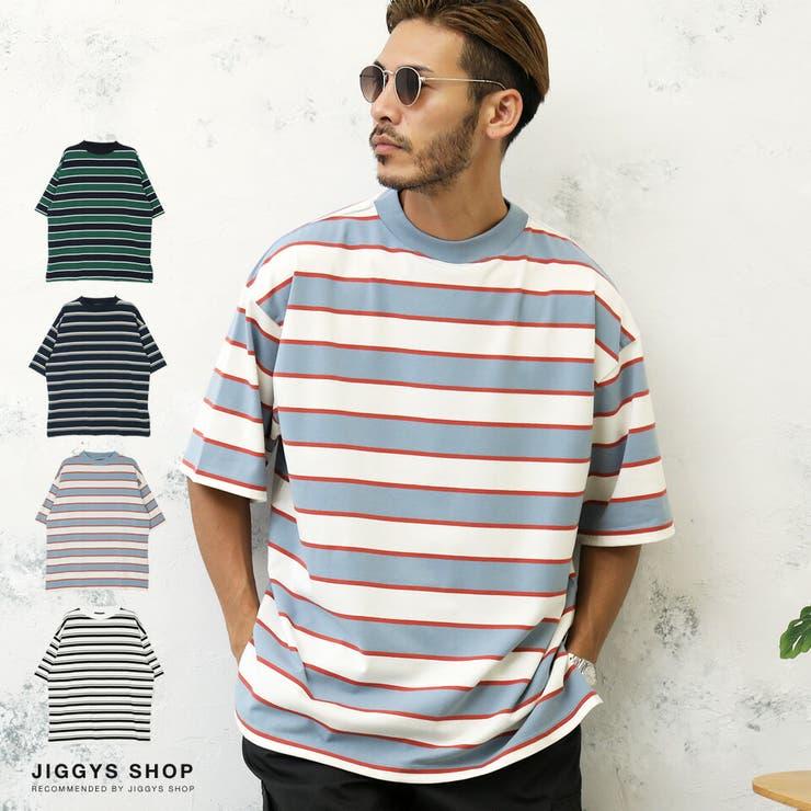 ◆ボーダーモックネックTシャツ◆   JIGGYS SHOP   詳細画像1