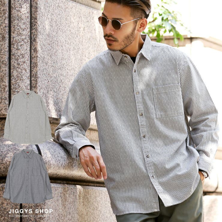 ◆ヒッコリーストライプレギュラーカラーシャツ◆ | JIGGYS SHOP | 詳細画像1