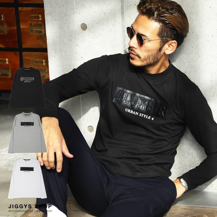 ◆レザーエンボスハイネックロンT◆ロンT メンズ Tシャツ | JIGGYS SHOP | 詳細画像1