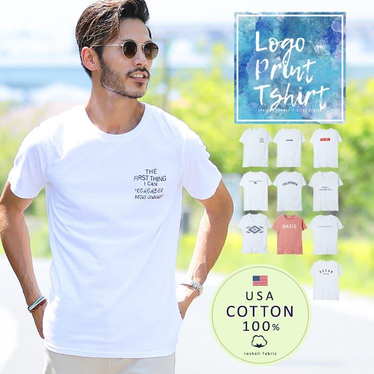 # Tシャツ メンズ◆マルチプリントUSAコットン半袖T◆おしゃれ   JIGGYS SHOP   詳細画像1