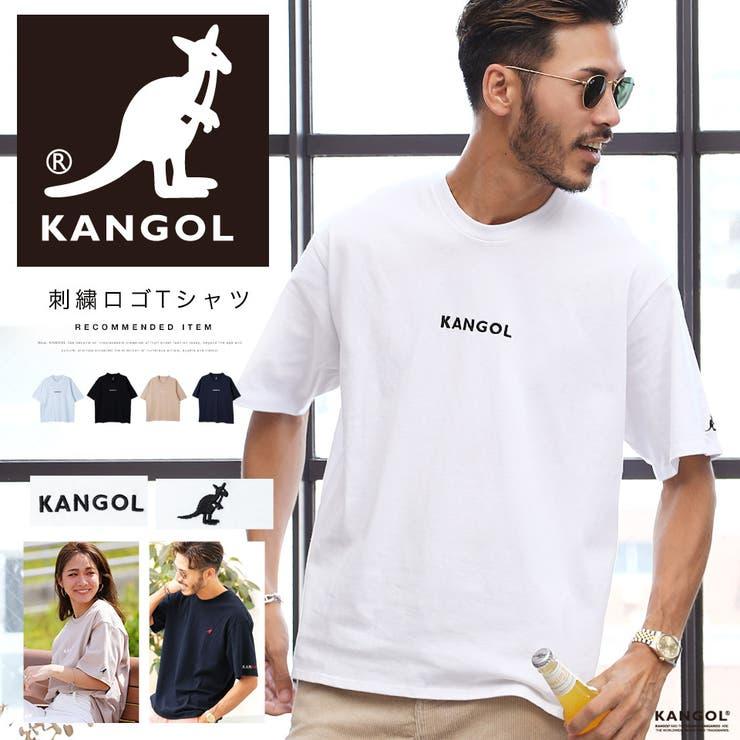 Tシャツ メンズ 韓国 夏服◆KANGOL 刺繍ロゴTシャツ◆ | JIGGYS SHOP | 詳細画像1