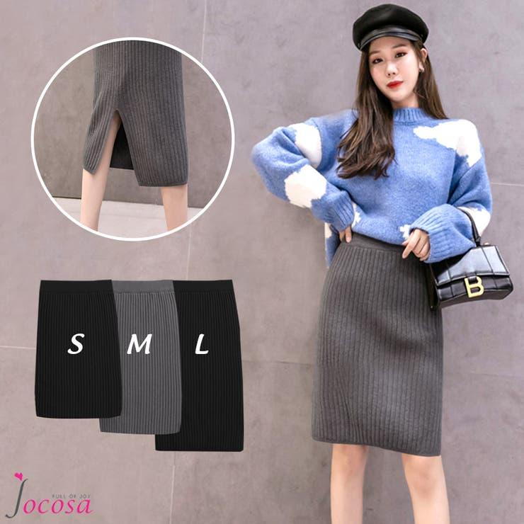 ニットスカート 韓国ファッション 韓国 | JOCOSA | 詳細画像1