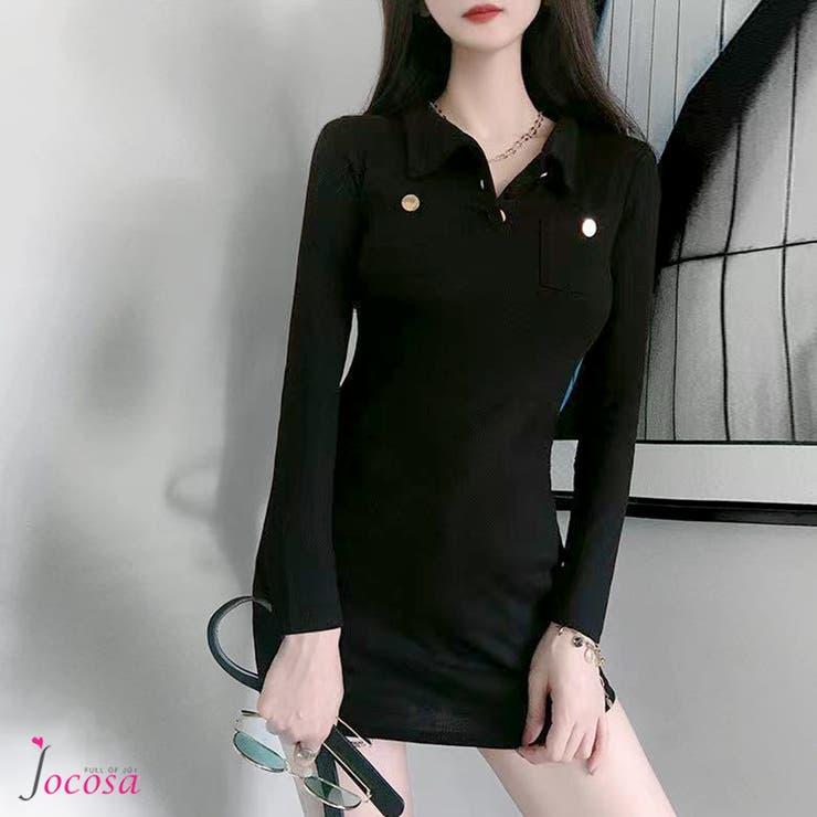 ワンピース 韓国ファッション 秋服   JOCOSA   詳細画像1