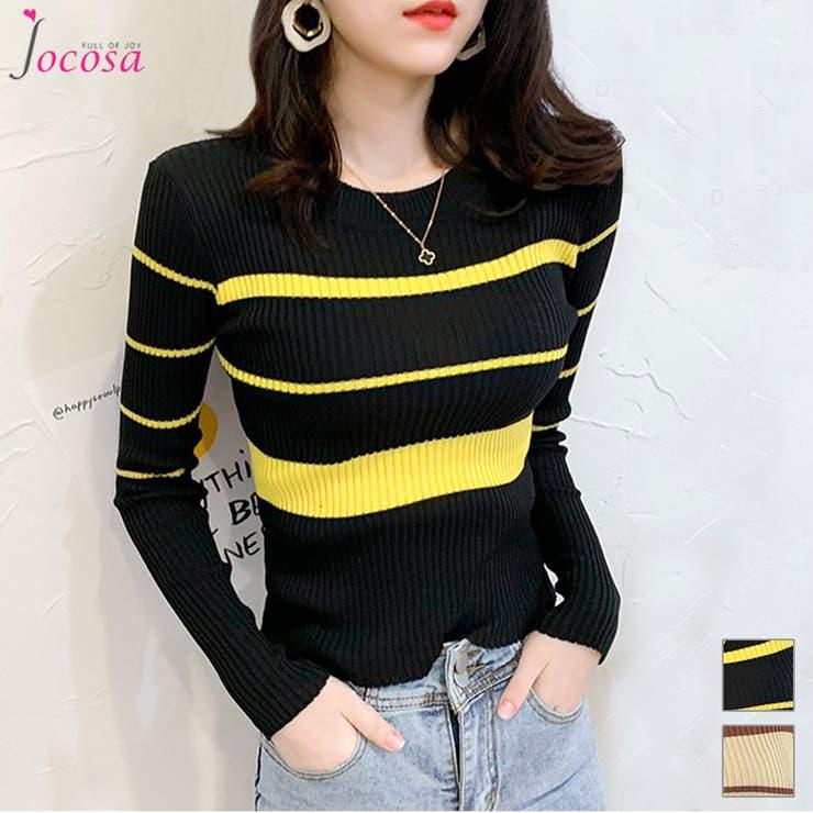 ニットトップス 長袖 韓国ファッション | JOCOSA | 詳細画像1