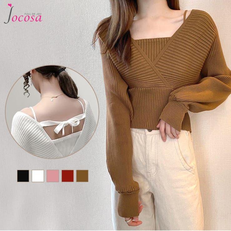 ニットトップス 長袖ニット 韓国ファッション | JOCOSA | 詳細画像1