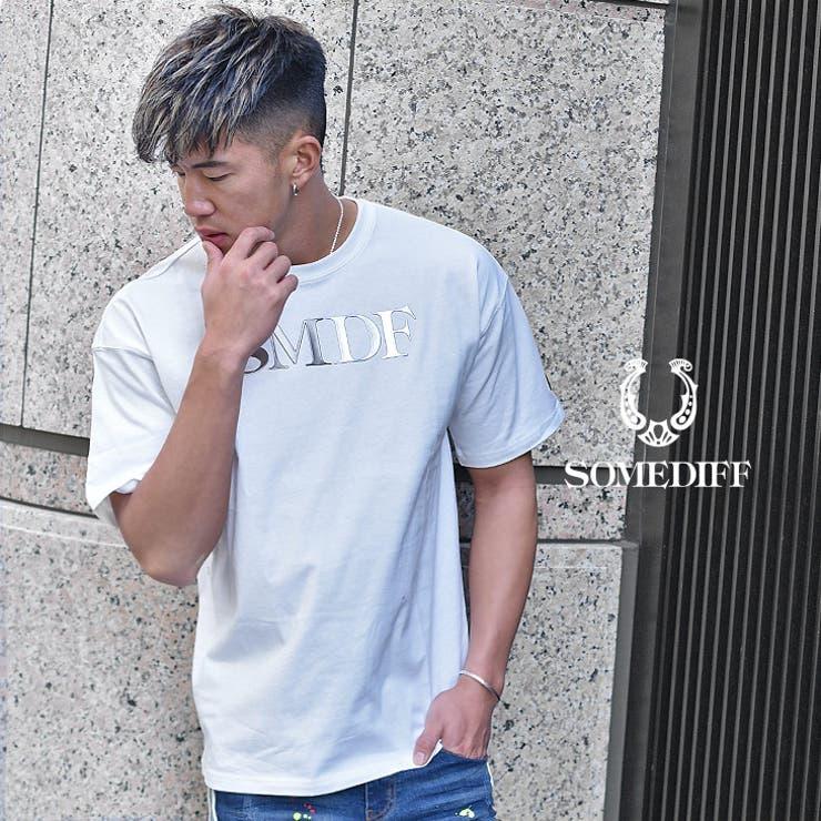 tシャツメンズ半袖tシャツ半袖ブランドトップスカットソー大きいサイズLLXLXXLインナービックシルエット大きめゆったり黒白ストリートファッションストレッチビター系BITTER系ちょいワルオラオラ系SOMEDIFFSMDFサムディフJOKERジョーカー | 詳細画像