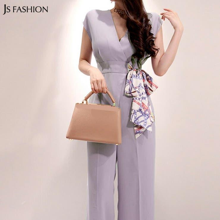 オールインワン スカーフリボン パンツドレス | JS FASHION | 詳細画像1