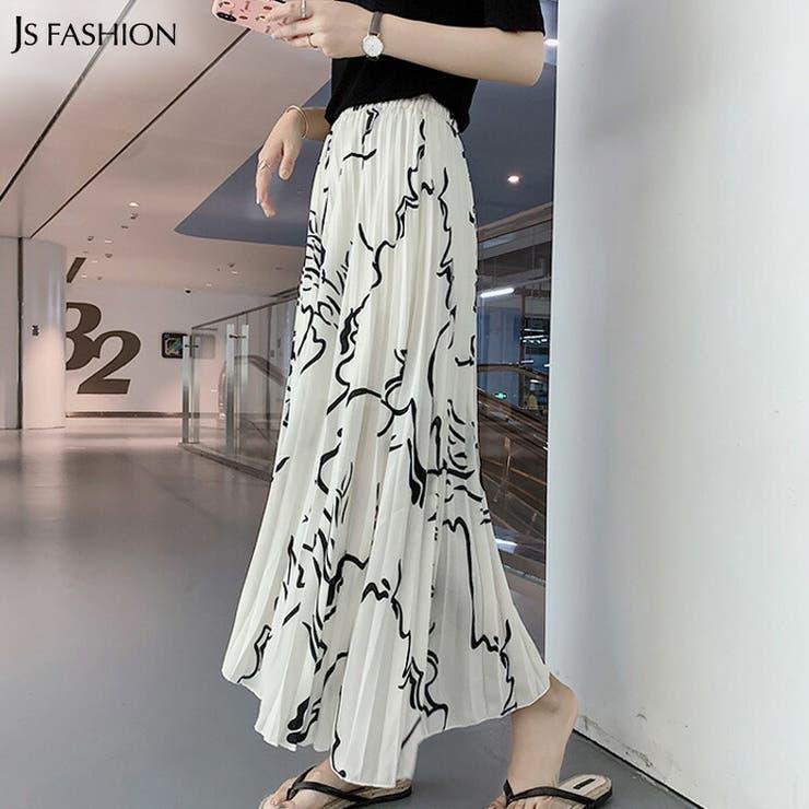 ロングスカート 全2色 プリント柄   JS FASHION   詳細画像1