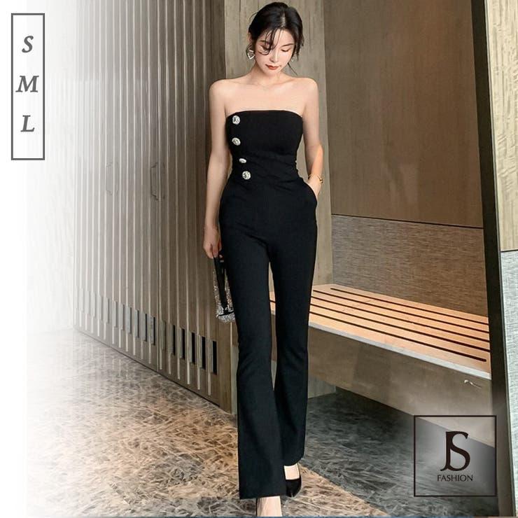 パンツドレス オールインワン ベアトップ | JS FASHION | 詳細画像1